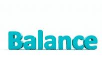 equilíbrio da palavra 3d Fotografia de Stock Royalty Free