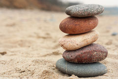 Equilíbrio da rocha, inukshuk Foto de Stock Royalty Free