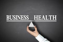 Equilíbrio da saúde do negócio imagens de stock