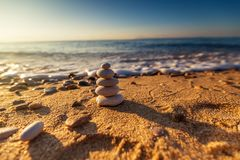 Equilíbrio das pedras Fotos de Stock