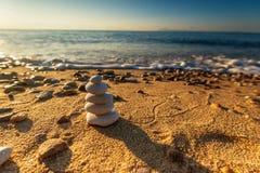 Equilíbrio das pedras Imagem de Stock