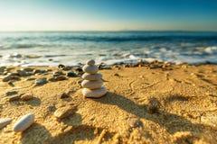 Equilíbrio das pedras Foto de Stock