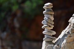 Equilíbrio das pedras imagens de stock