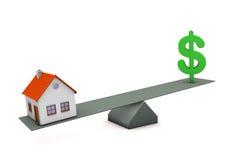 Equilíbrio de dólar da casa Foto de Stock Royalty Free