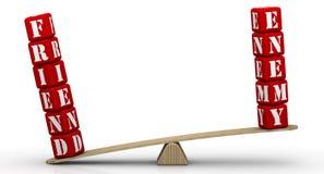 equilíbrio do Amigo-inimigo Amigo, mas não inimigo ilustração do vetor
