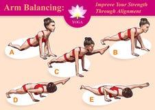 Equilíbrio do braço da ioga Imagens de Stock