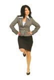 Equilíbrio orgulhoso da mulher de negócio Imagem de Stock Royalty Free