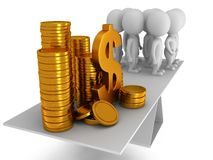 Equilíbrio perfeito entre o dinheiro e os povos ilustração royalty free