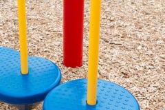 Equilíbrio Polos do equipamento do campo de jogos Imagem de Stock Royalty Free