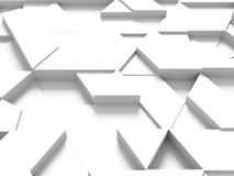 Equilateral triangles - white abstract background with shadows Royalty Free Stock Photography