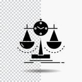 Equilibrado, gestión, medida, tarjeta de puntuación, icono del Glyph de la estrategia en fondo transparente Icono negro libre illustration