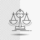 Equilibrado, gestión, medida, tarjeta de puntuación, línea icono de la estrategia en fondo transparente Ejemplo negro del vector  libre illustration