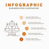 Equilibrado, gesti?n, medida, tarjeta de puntuaci?n, plantilla de Infographics de la estrategia para la p?gina web y presentaci?n stock de ilustración