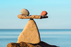 Equilibrate of stones Stock Image