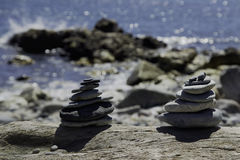 Equilibrio in azzurro Fotografie Stock Libere da Diritti