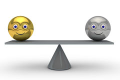 Equilibrio bien stock de ilustración