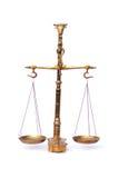 Equilibrio de bronce de la escala   Foto de archivo