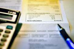 Equilibrio de la tarjeta de crédito Imágenes de archivo libres de regalías
