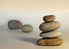 Equilibrio de piedra Foto de archivo libre de regalías