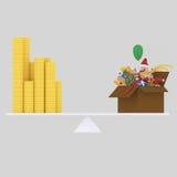 Equilibrio dei soldi di Natale 3d illustrazione di stock