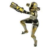 Equilibrio del soldato del Bot Fotografie Stock
