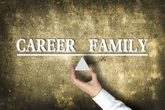 Equilibrio della famiglia di carriera Immagine Stock