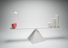 Equilibrio delle idee con compensazione Fotografia Stock