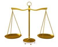 Equilibrio di fascio dell'oro illustrazione di stock