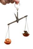 Equilibrio di finanze della medicina Fotografia Stock Libera da Diritti