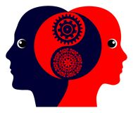 Equilibrio di genere di Yin e di Yang Immagini Stock