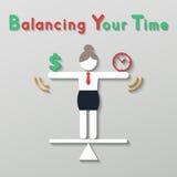 Equilibrio di idea il vostro concetto di affari di vita Immagini Stock
