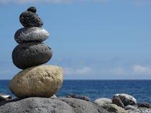 Equilibrio di pietra di zen Fotografie Stock