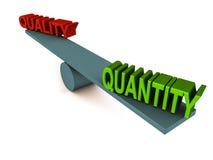 Equilibrio di quantità di qualità illustrazione di stock