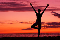 Equilibrio di tramonto. Immagini Stock Libere da Diritti