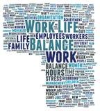 Equilibrio di vita del lavoro Fotografia Stock Libera da Diritti