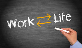Equilibrio di vita del lavoro Fotografie Stock Libere da Diritti