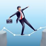 Equilibrio e fuoco Illustrazione di affari Immagini Stock