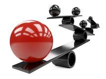 Equilibrio entre muchas esferas negras rojas y smaal grandes - concepto libre illustration