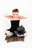 Equilibrio fra la punizione ed i soldi rubati Fotografie Stock