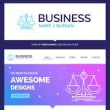 Equilibrio hermoso de marca del concepto del negocio, decisión, justicia ilustración del vector