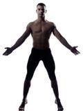 Equilibrio relativo alla ginnastica dell'uomo Fotografia Stock Libera da Diritti