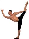 Equilibrio relativo alla ginnastica di acrobatics del ritratto dell'uomo Immagini Stock Libere da Diritti