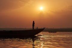 Equilibrio sul ` di Ganga del ` Fotografia Stock Libera da Diritti
