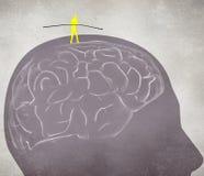 Equilibrist идя на мозг бесплатная иллюстрация