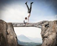 Equilibrist affärsman Royaltyfria Bilder