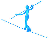 Equilibrist Blue Boy Stock Images