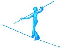 Equilibrist Blue Boy Stock Images