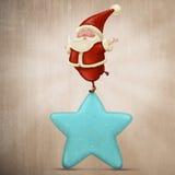 Equilibrist Santa Claus Stock Images