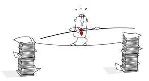 Equilibrista ilustração royalty free