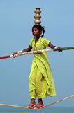 Equilibrista indiano de vagueamento Foto de Stock Royalty Free